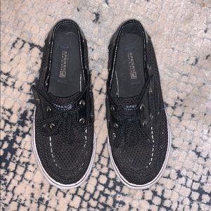 Sperry kids shoes black